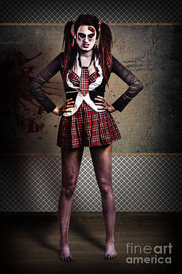 Crazy Zombie School Student. Tales From The Crypt  Poster by Jorgo Photography - Wall Art Gallery
