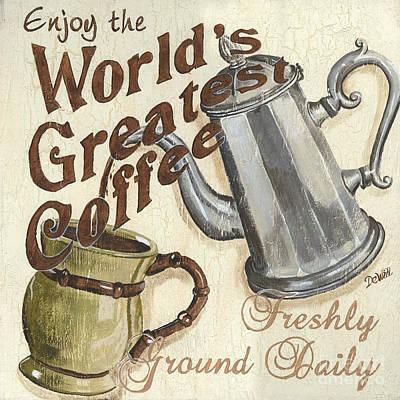Cream Coffee 1 Poster by Debbie DeWitt