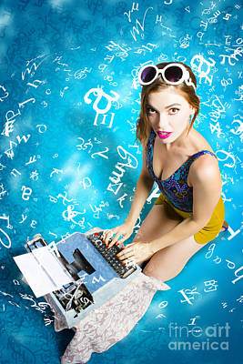 Creative Pin Up Novelist Poster by Jorgo Photography - Wall Art Gallery