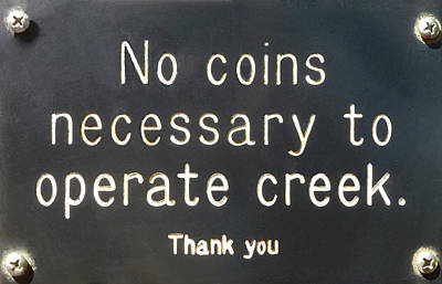 Creek Sign Poster
