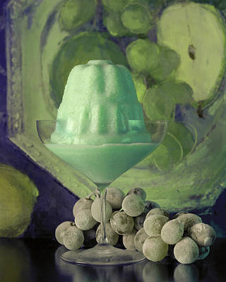 Creme De Menthe With Grapes Poster