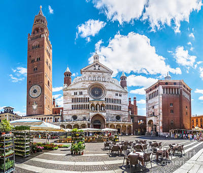 Cremona Market Square With Cathedral Poster by JR Photography