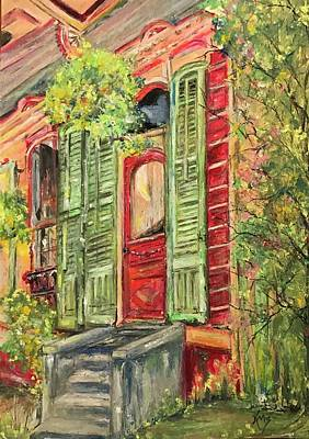 Creole Painted Lady In The Marigny Poster by Robin Miller-Bookhout