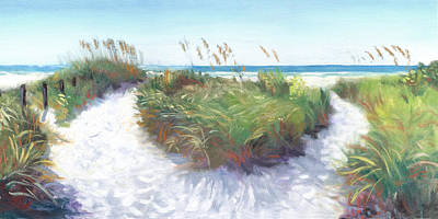 Crescent Beach Path Poster by Shawn McLoughlin
