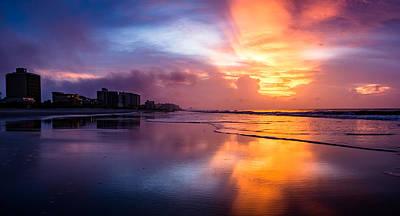 Crescent Beach Sunrise Poster