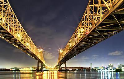 Crescent City Bridge In New Orleans Poster