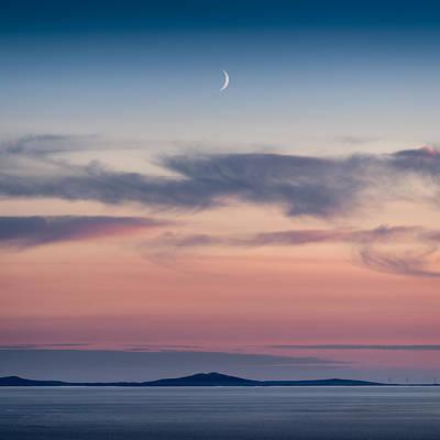 Crescent Moon Over North Uist Poster