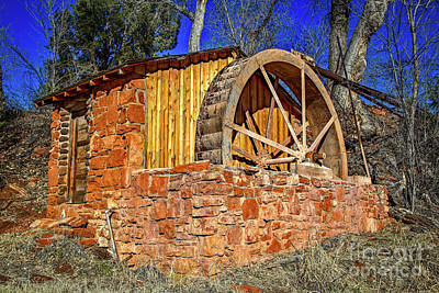 Crescent Moon Ranch Water Wheel Poster by Jon Burch Photography
