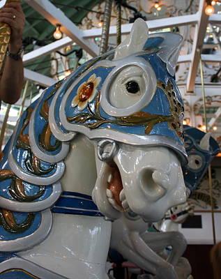 Crescent Park Carousel Horse Poster
