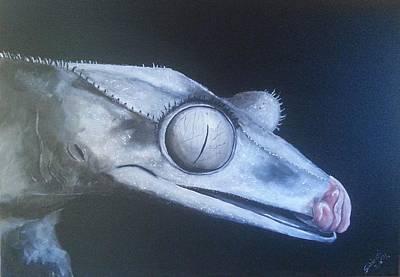 Crested Gecko Poster by Judit Szalanczi