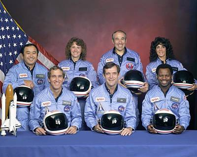 Crew Portrait Of The Challenger Poster by Everett