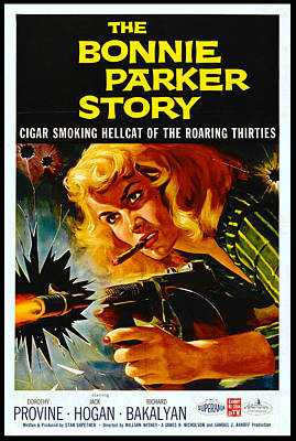 Crime Movie Poster 1958 Poster by Padre Art