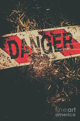 Crime Scene Danger Tape Poster