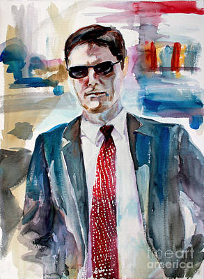 Poster featuring the painting Criminal Minds Aaron Hotchner The Way I See Him by Ginette Callaway