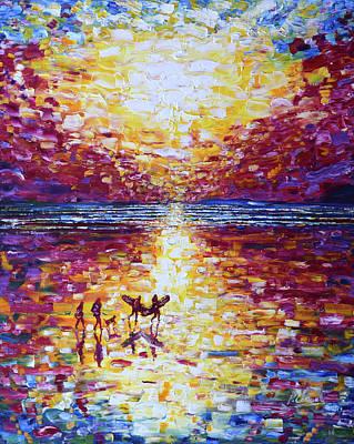 Crimson In Sunset Poster