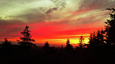 Poster featuring the photograph Crimson Sky by Pacific Northwest Imagery