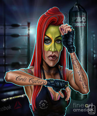Cris Cyborg Poster by Andre Koekemoer