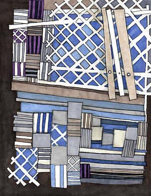Crisscross Patterns Poster