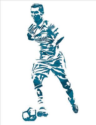 Cristiano Ronaldo Real Madrid Pixel Art 3 Poster