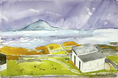 Croagh Patrick And Purple Sky Poster