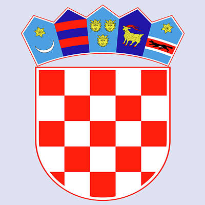 Poster featuring the drawing Croatia Coat Of Arms by Movie Poster Prints