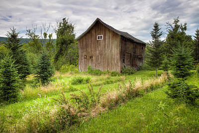 Poster featuring the photograph Crooked Old Barn On South 21 - Finger Lakes New York State by Gary Heller