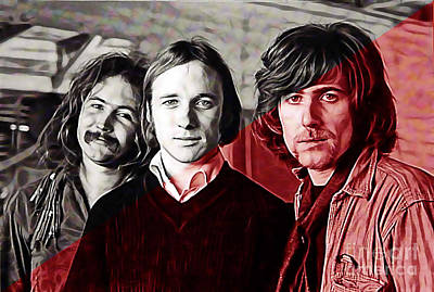Crosby Stills And Nash Poster by Marvin Blaine