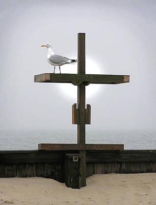 Cross At West Dennis Beach Poster