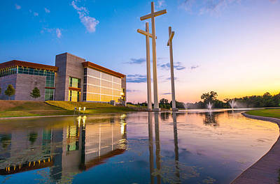 Cross Church Sunset - Bentonville - Rogers Arkansas Poster by Gregory Ballos
