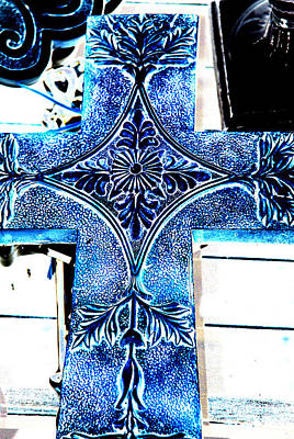 Cross In Blue Poster