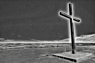 Cross On The Hill V2 Poster by Douglas Barnard