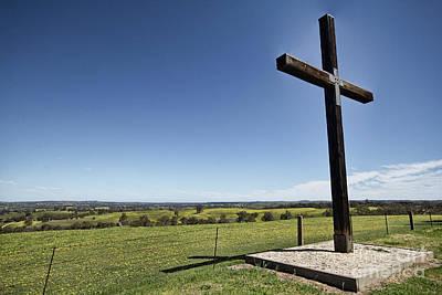 Cross On The Hill V3 Poster by Douglas Barnard