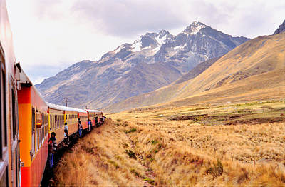 Poster featuring the photograph Crossing The Andes by Nigel Fletcher-Jones