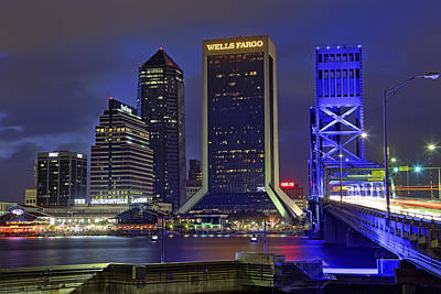 Crossing The Main Street Bridge - Jacksonville - Florida - Cityscape Poster by Jason Politte