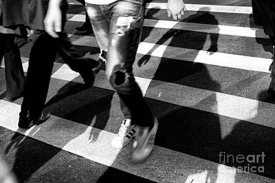Poster featuring the photograph Crossings Adidas by John Rizzuto
