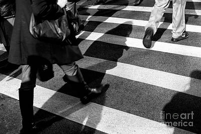Poster featuring the photograph Crossings Shadow First by John Rizzuto