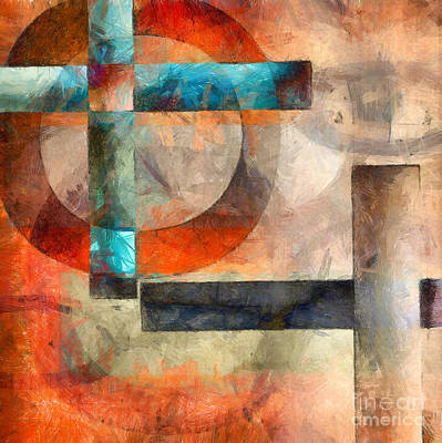 Crossroads Abstract Poster by Edward Fielding