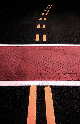 Crosswalk Conversion Of Traffic Lines Poster