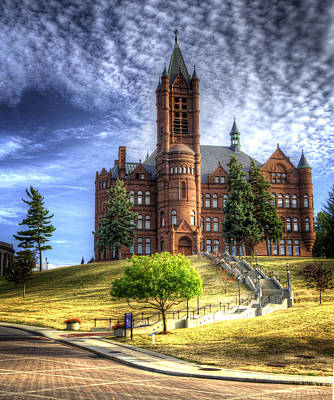 Crouse Memorial College Building At Syracuse University Poster by Vicki Jauron