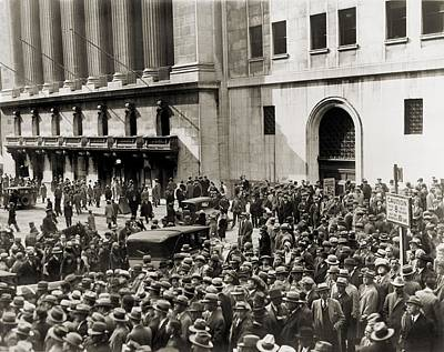 Crowd Gathers Outside The New York Poster