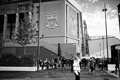 crowds at The new main stand at Liverpool FC anfield stadium Liverpool Merseyside UK Poster
