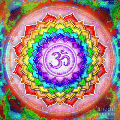 Crown Chakra - Rainbow Lotus Series 5  Poster