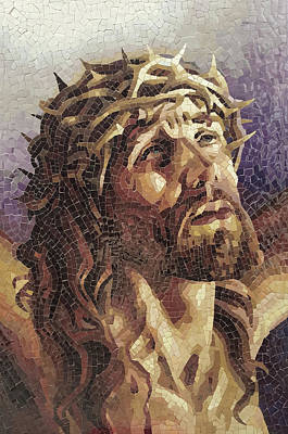 Crown Of Thorns 3 - Ceramic Mosaic Wall Art Poster