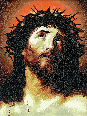 Crown Of Thorns - Ceramic Mosaic Wall Art Poster by Mai Nhon