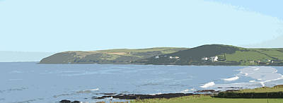 Croyde Bay And Baggy Point North Devon Poster