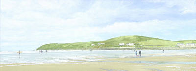 Croyde Beach And Baggy Point Poster