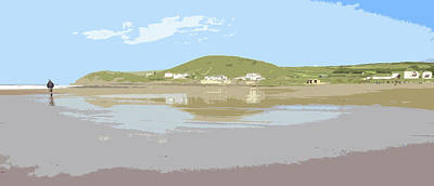 Croyde Beach And Baggy Point Walker Poster