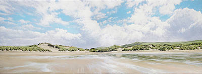 Croyde Beach And Sand Dunes Poster