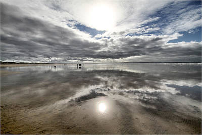 Croyde Beach Reflections Poster