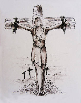 Crucified With Christ Poster by Rachel Christine Nowicki